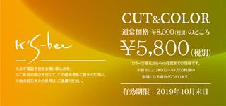 CUT&COLOR ¥5,600